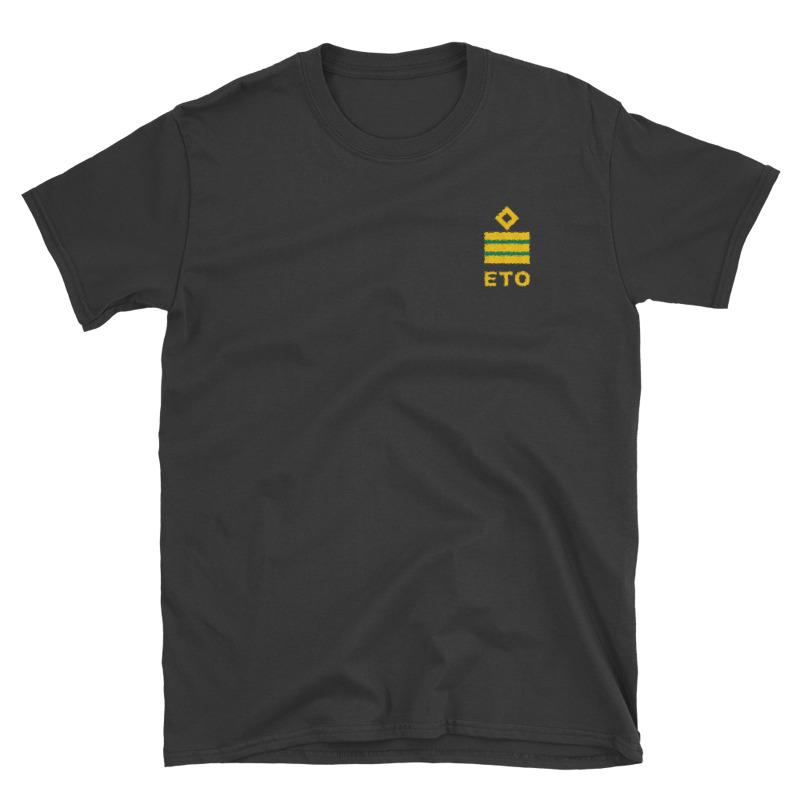 Electro Technical Officer (ETO) working shirt with ship ETO rank