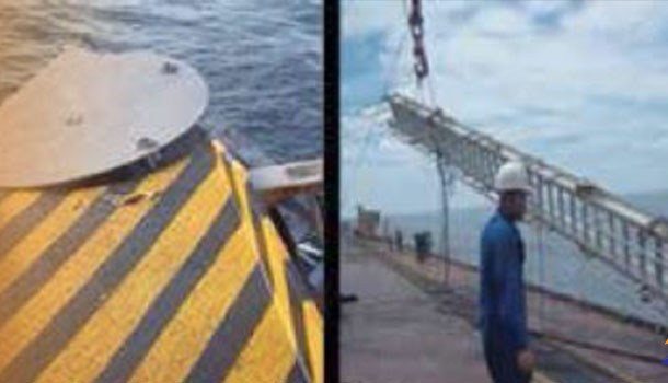 Ship Accommodation Ladder fault, limit switch Bypassed