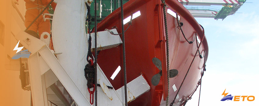 Ship limit switch fault cause free-fall vessel rescue boat