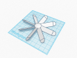 Prototype of my fan blade design made in Tinkercad.