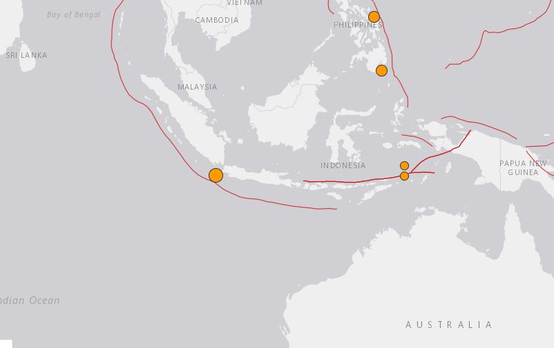 M6 9 Earthquake Strikes 102km WSW of Tugu Hilir, Indonesia