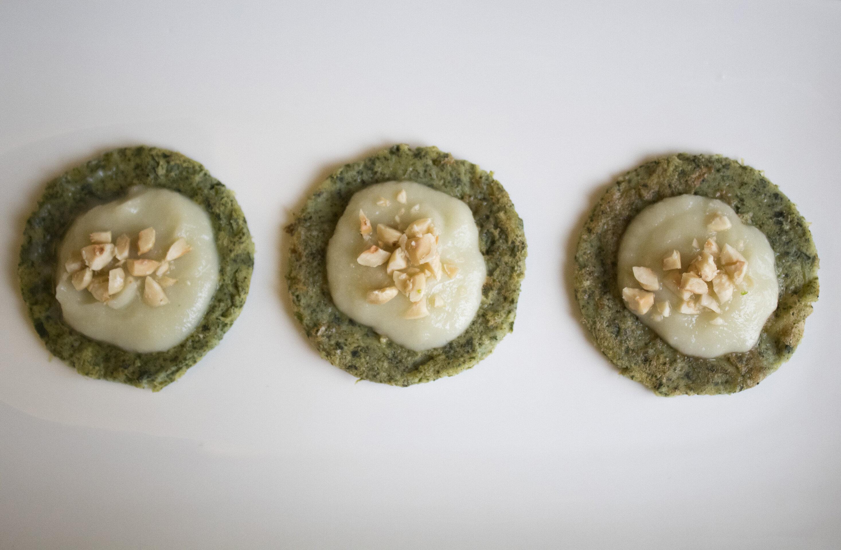 Farifrittatine di cicoria con crema di topinambur