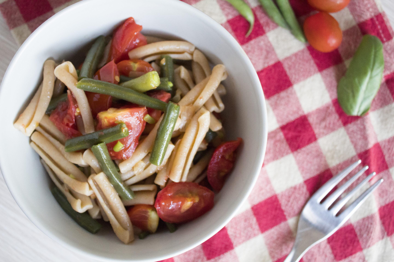 Pasta pomodori e fagiolini