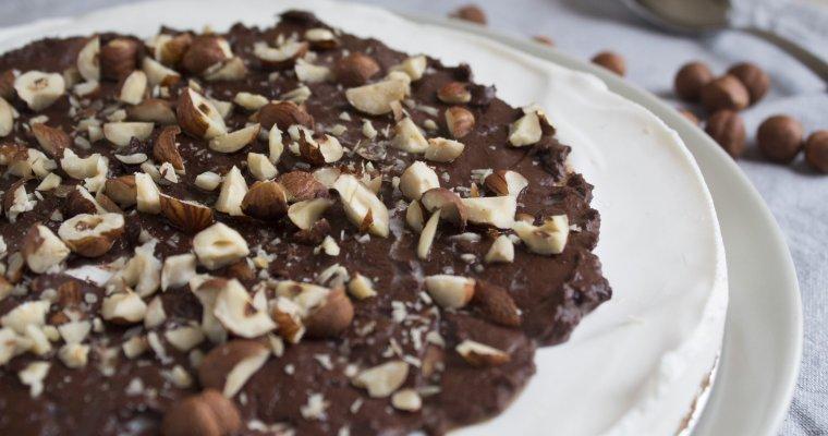 Torta gelato cioccolato e nocciole