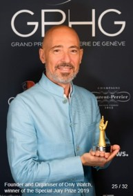 Luc Pettavino (Founder and Organizer of ONLY WATCH) winner of the special jury prize 2019