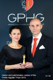 Stefan Kudoke (Founder and Owner - KUDOKE watches), winner of the petite aiguille prize 2019