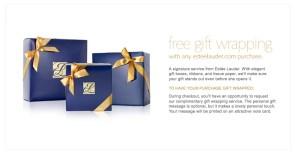 free estee lauder gift wraping