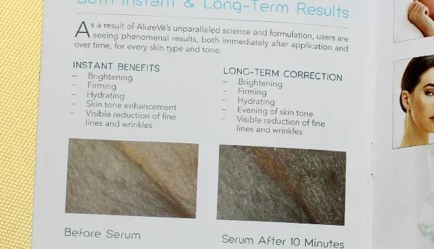AlureVe Skin Care Review brochure