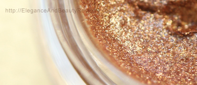 Up close look at the metallic particles