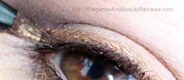 Applying the LORAC PRO Metallic Cream Eyeliner