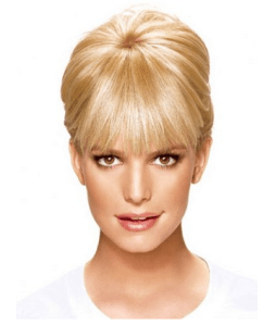 Hide your forehead wrinkles instantly with bangs