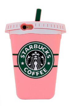 pink starbucks cell phone case