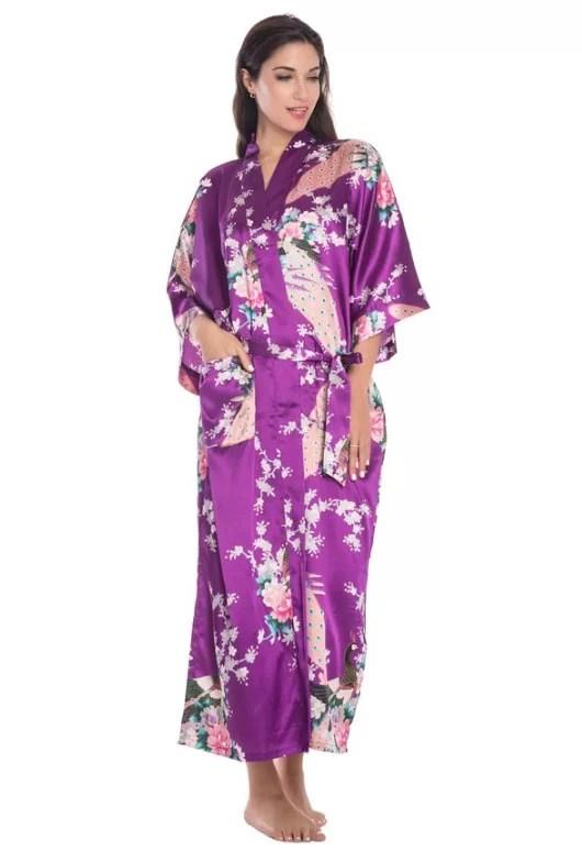 women's silk kimono robe under $20