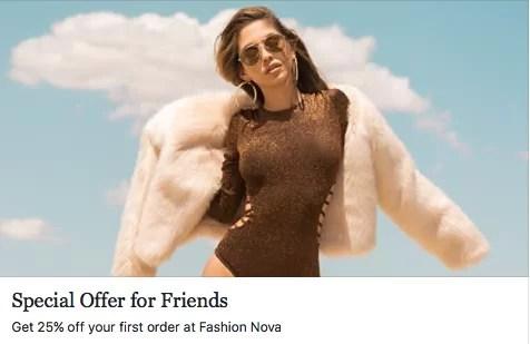 Fashion Nova coupon code: 25% off