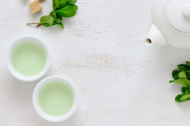 green tea for younger skin