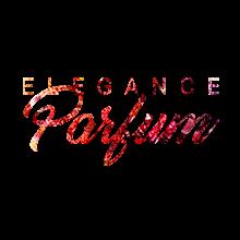logo rouge elegance parfum sur page eau de toilette - femme