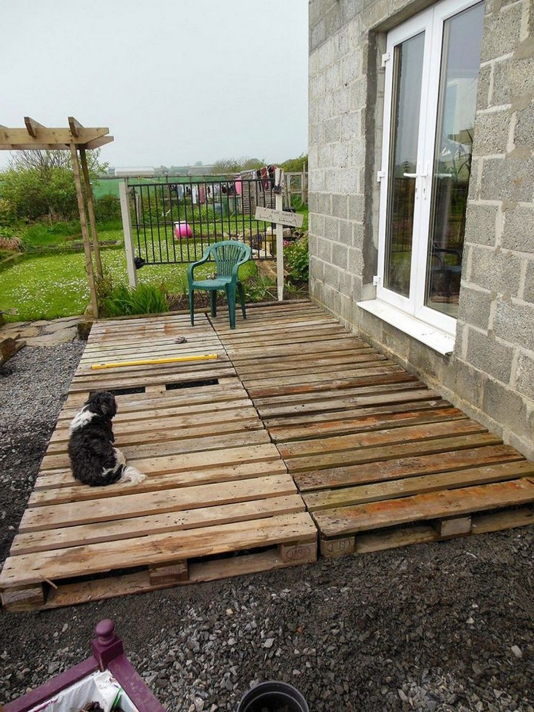 15+ Good DIY Wood Pallet Patio For Cheap and Amazing Home ... on Diy Backyard Patio Cheap  id=73778
