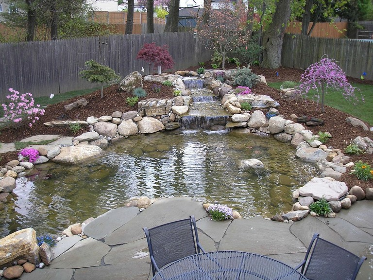 55 Unusual Backyard Pond and Water Feature Landscaping Ideas on Backyard Pond Landscaping Ideas id=55571