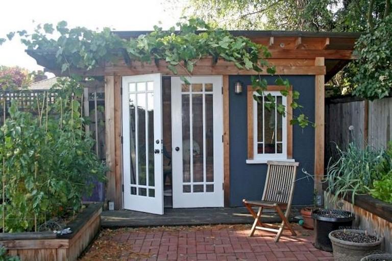 50 Popular DIY Backyard Studio Shed Remodel Design & Decor ... on Diy Backyard Remodel id=38504
