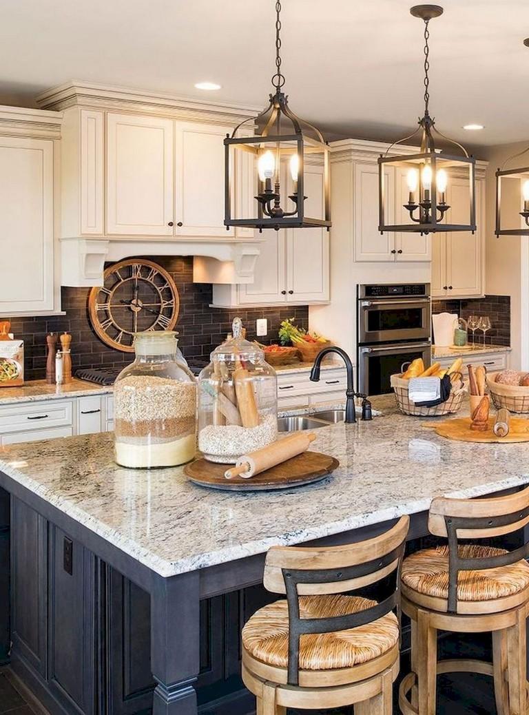 65+ Beautiful Modern Farmhouse Kitchen Makeover Decor Ideas on Farmhouse Kitchen Ideas  id=64315