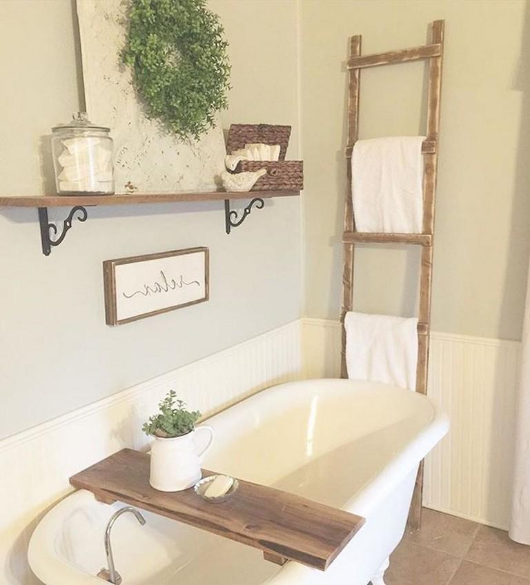 77+ Easy and Modern Farmhouse Bathroom Decor Ideas on Bathroom Ideas Modern Farmhouse  id=52820