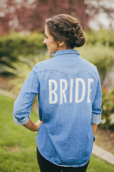 """Bride"" Chambray Button up blouse"
