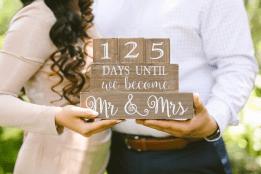 Wedding countdown blocks. 'X' days until we become Mr. & Mrs.