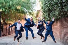 Groomsmen at Firehouse Restaurant Downton Sacramento, Wedding Photographer