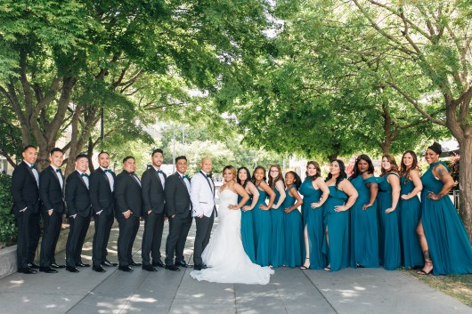 Wedding Party, downtown Sacramento