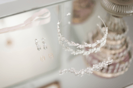 Detailed shot of wedding accessories