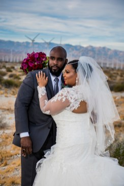 Bride and groom in Palm Desert