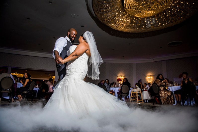 First wedding dance on a cloud