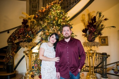 Holiday engagement photos