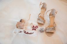 Embroidered garter and wedding heels / Sacramento, CA / Elegant Events Media