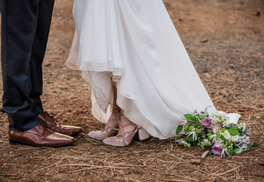 Bride and groom, Foresthill, CA / Elegant Events Media