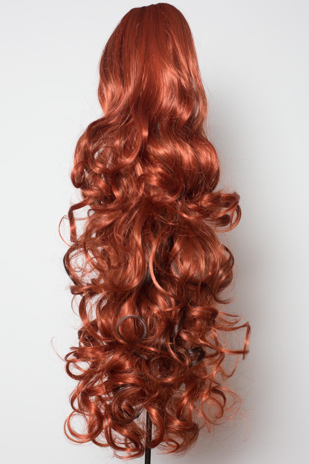 PONYTAIL Clip In On Hair Piece CopperDark Brown