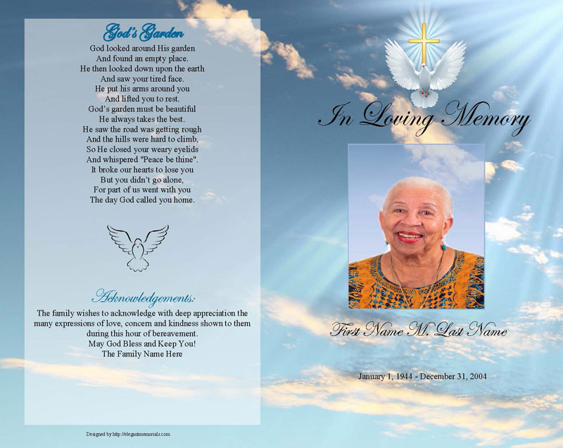 Peach Background Images Funeral Programs