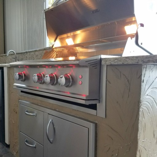 """Outdoor kitchen remodel - Blaze 34"""" Professional Grill"""