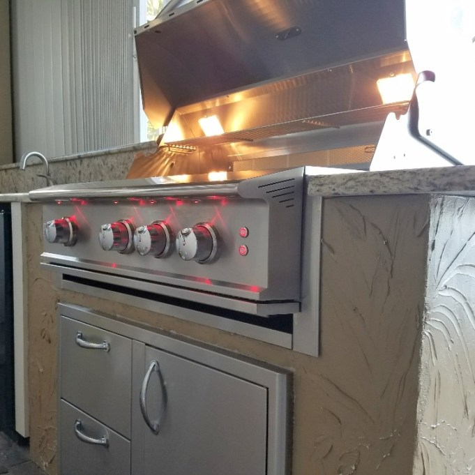"Outdoor kitchen remodel - Blaze 34"" Professional Grill"