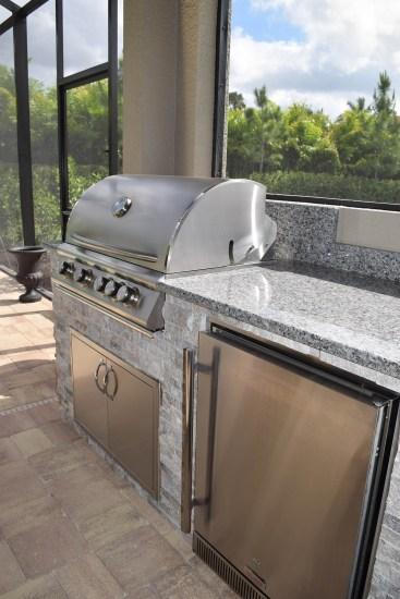 Custom BBQ Island Design by Elegant Outdoor Kitchens