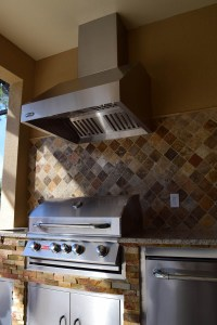 Elegant Outdoor Kitchens Lely, Naples Community Custom Overhead Vent
