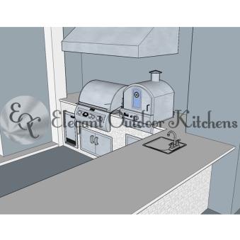 Outdoor kitchen design - Fort Myers, Florida