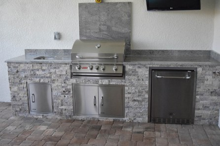 Ben Poulton Outdoor Kitchen Construction - Elegant Outdoor Kitchens of Fort Myers, Florida