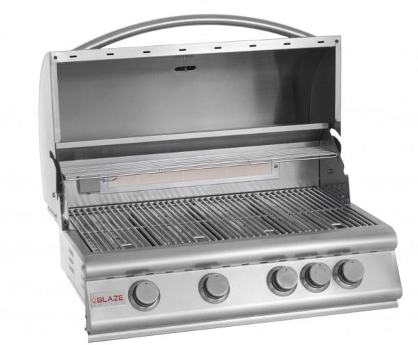 Blaze 32 Inch 4-Burner Grill With Rear Burner - Open Grill Head