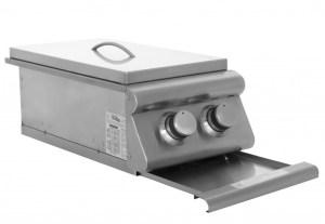 Blaze Built-In Double Side Burner - Open Drip Pan