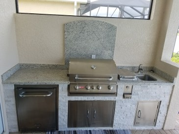 Custom BBQ Island Construction - Elegant Outdoor Kitchens - Fort Myers Florida