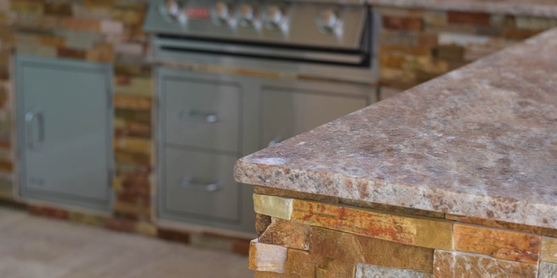 Custom Granite Outdoor Kitchen Countertops by Elegant Outdoor Kitchens