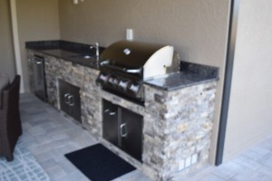 Custom Outdoor Kitchen Inside Corkscrew Shores - Pulte Homes Community