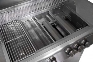 """Blaze 40"""" 5-Burner Professional Barbecue Grill Interior"""