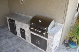 Custom Barbecue Island manufactured by Elegant Outdoor Kitchens of Southwest Florida